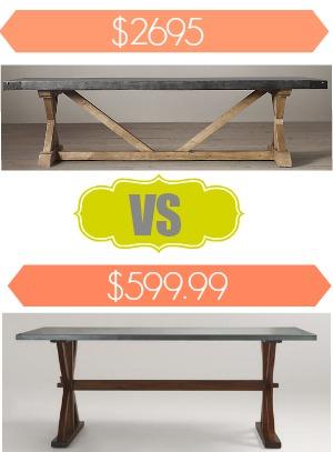 Restoration Hardware Salvaged Wood & Concrete Table Look Alike