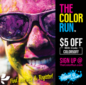 Get $5 off your ticket to The Color Run!