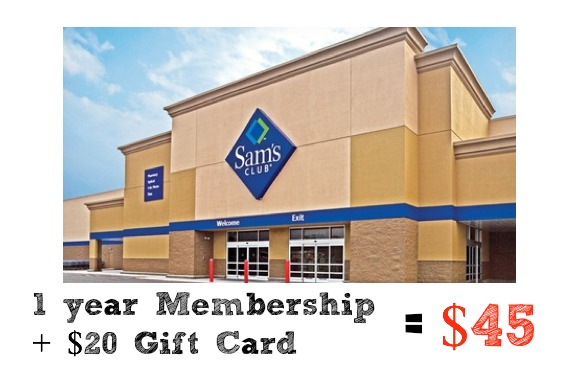 Get a year membership to Sam's Club and a $20 gift card for $45!