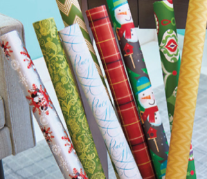 Get holiday or everyday wrapping paper for $2 per roll