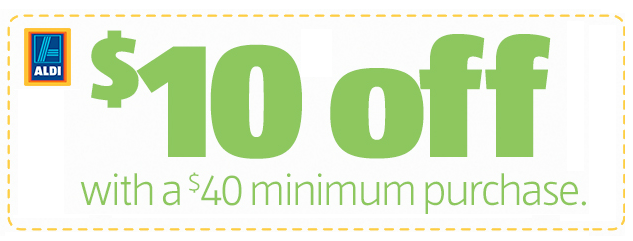 10 dollars off aldi coupon