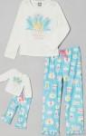 blue crown pajama set