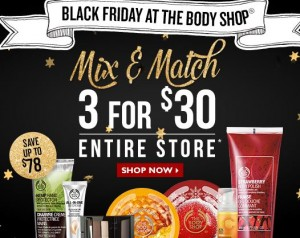 body shop black friday