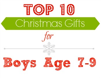 A list of Christmas gifts for boys age 7-9!