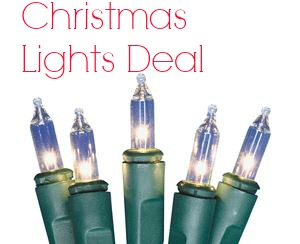 christmas light deal at lowes