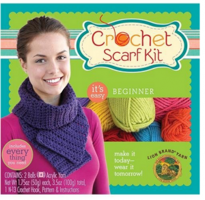 crochet scarf kit