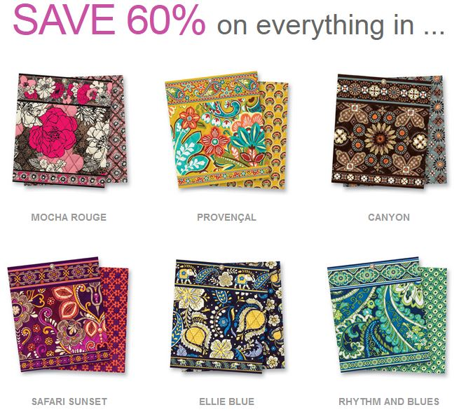 Vera Bradley Up To 40% Off On Select Patterns Today Only Custom Vera Bradley Pattern Names