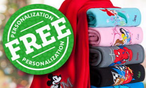 disney store free personalization