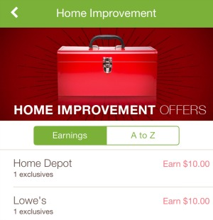New ibotta mobile coupon 10 off 100 purchase at lowes or home depot