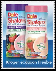 Kroger Ecoupon Free Dole Fruit Smoothie Shakers Southern Savers