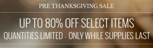 pre thanksgiving sale