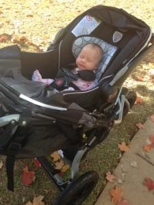 sarah in stroller