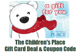 the children's place gift card deal