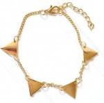 triangle chain bracelet