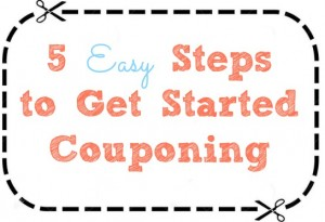 5 easy ways to start couponing.  Learning to coupon the easy way.