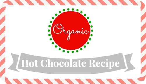 An organic hot chocolate recipe to get you through the cold weather!  Save money by making it in bulk and drinking it by the cup.