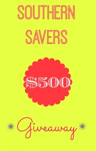 Enter to win a big giveaway from Southern Savers, just by sharing how much money you save!