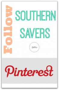 Follow Southern Savers on Pinterest!