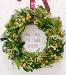 Greenery wreath DIY - super easy and beautiful!