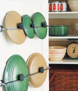 Some simple ways to organize the kitchen, brought to you by Martha Stewart.