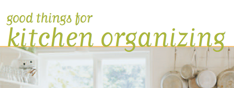 Martha Stewart FREE Kitchen Organization PDF.