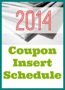 See which coupon inserts will be coming in your newspaper this Sunday.