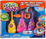 aqua glitter sand
