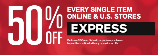 express 50 off sale