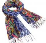 fringe scarf in venetian paisley