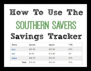 how to use the savings tracker