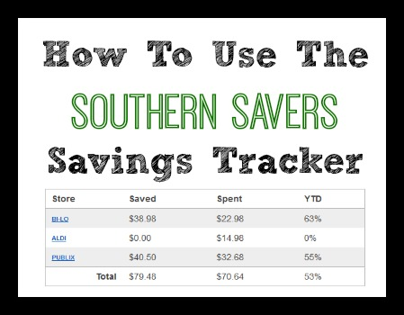 How to use the FREE Southern Savers Savings Tracker | Track Your Savings
