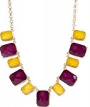 kate square stone necklace