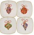 ornament salad plates