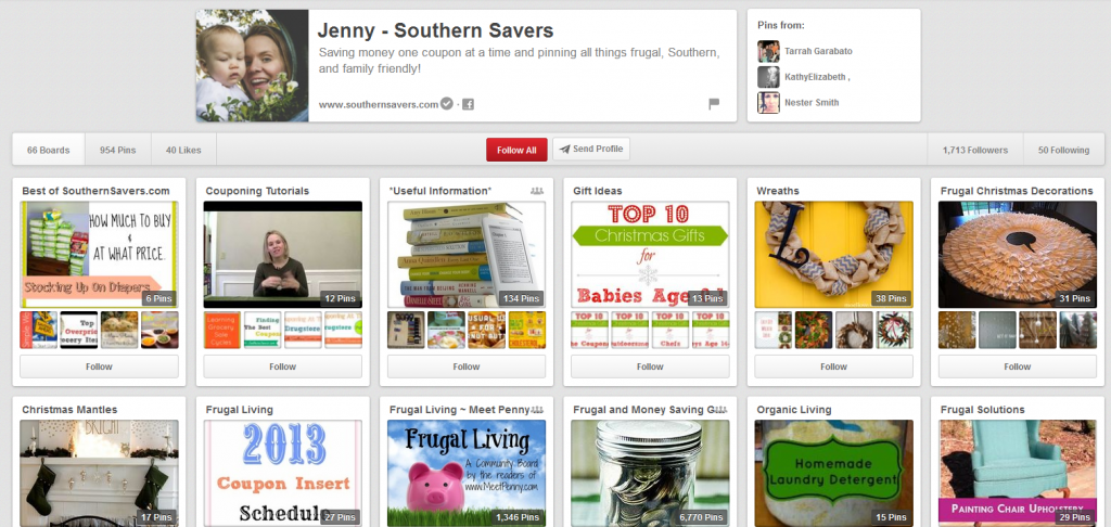 Southern Savers Pinterest