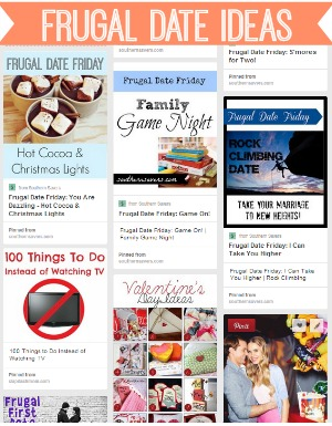 Frugal date ideas for Valentine's Day or any other date.