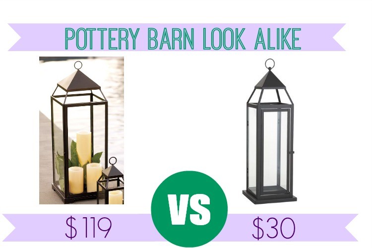 Pottery Barn Malta Lantern Look Alike