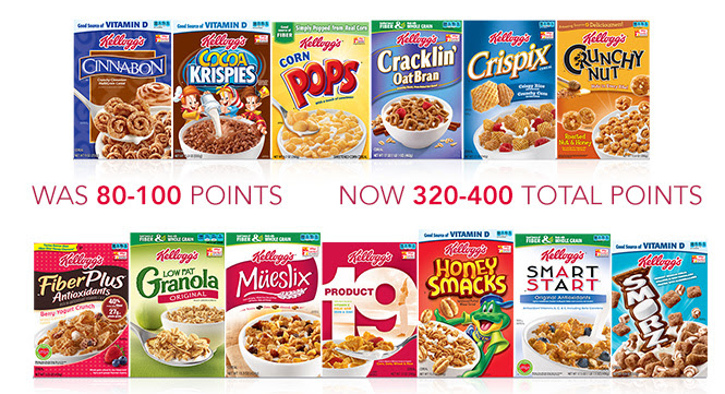 Kellogg's family rewards quadruple points
