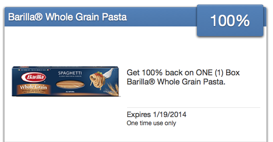 Free Barilla Pasta offer