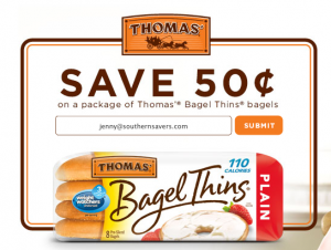 Thomas Bagel Thins Coupon