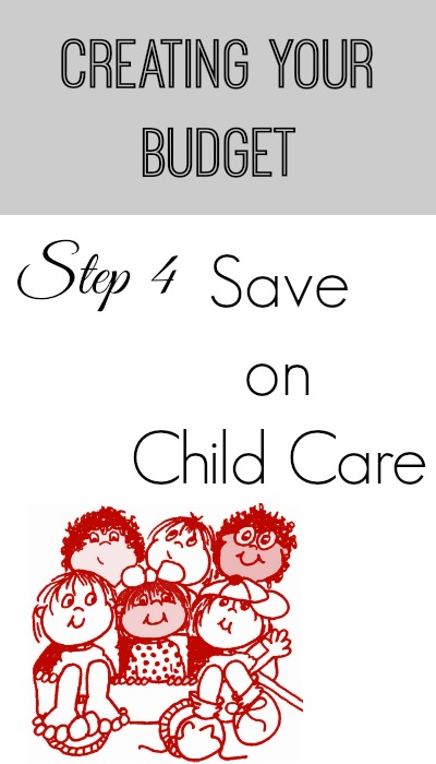 creating your budget save on child care