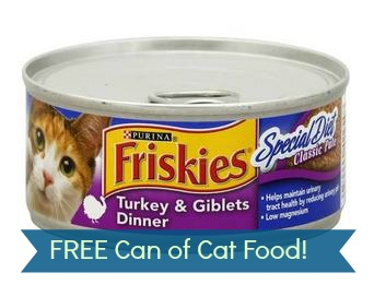 free cat food can