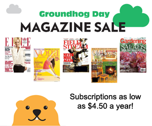 groundhog day magazine subscription sale
