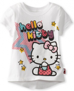 hello kitty glitter tee