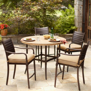 Hampton Bay Patio Chairs Home Depot Oak Cliff 7 Piece Metal