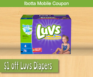 ibotta mobile coupons luvs diapers