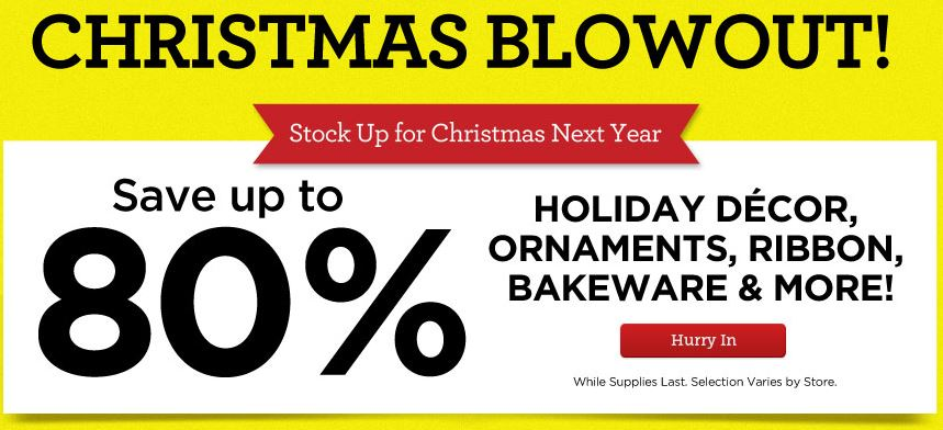 michael 39 s christmas blowout sale craft store coupons southern savers. Black Bedroom Furniture Sets. Home Design Ideas