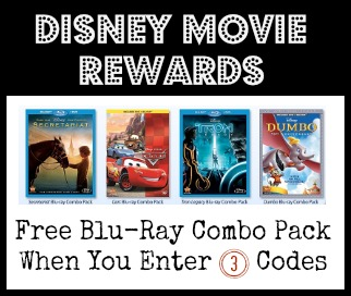 Disney Movie Rewards | Free Blu-Ray Combo Pack wyb (3) Select Movies