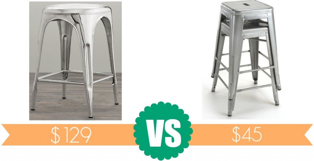 Don't shell out $130 for the Restoration Hardware Remy Backless Stool when you can buy the look alike for only $45 from Overstock!