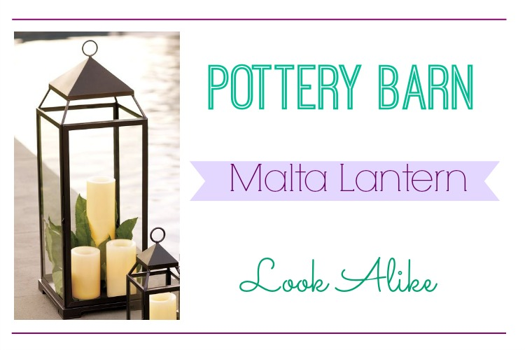 A cheaper version of the Pottery Barn Malta Lantern.  / / Pottery Barn Look Alike