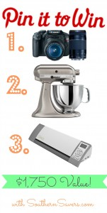 Enter to win a camera, KitchenAid Mixer or a Silhouette!